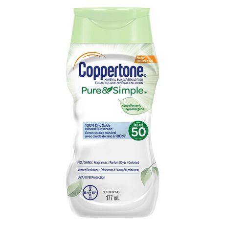 Coppertone® Mineral Sunscreen Lotion Pure & Simple SPF 50 - image 1 of 1