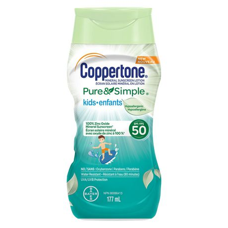 Coppertone® Mineral Sunscreen Lotion Pure & Simple Kids SPF 50 - image 1 of 1