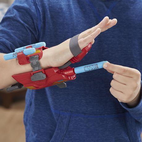 Marvel Avengers Gant Foudroyeur à répulsion Iron Man avec fléchettes Nerf pour jeu de rôle et de déguisement - image 6 de 8