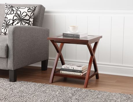 HomeTrends Glass Top End Table Walmart Canada