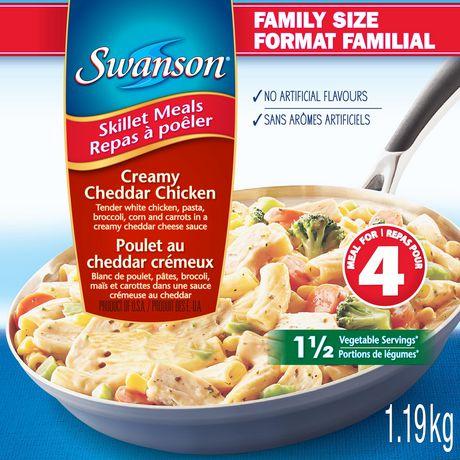 Repas à poêler Swanson à saveur poulet au cheddar crémeux en format Familial - image 1 de 3