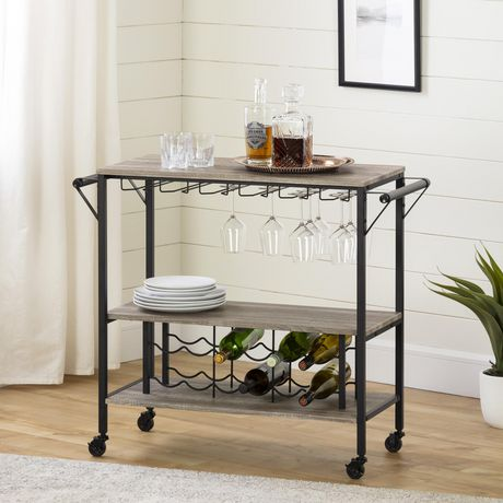 South Shore Munich Bar Cart With Wine Rack Walmart Canada
