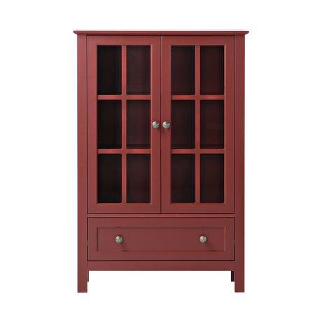 Homestar 2 door 1 drawer glass cabinet walmart canada for 1 drawer 2 door cabinet