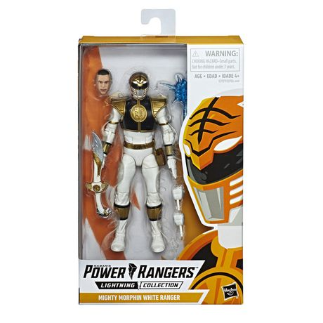 Power Rangers Lightning Collection 6-Inch Mighty Morphin White Ranger Collectible Action Figure - image 1 of 6