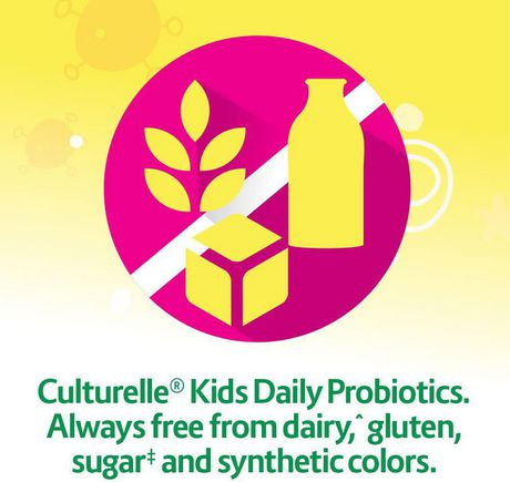 Culturelle Kids Daily Probiotic Chewables | Natural Bursting Berry Flavour | Help Support your Child's gastrointestinal health| 30 Count - image 4 of 7