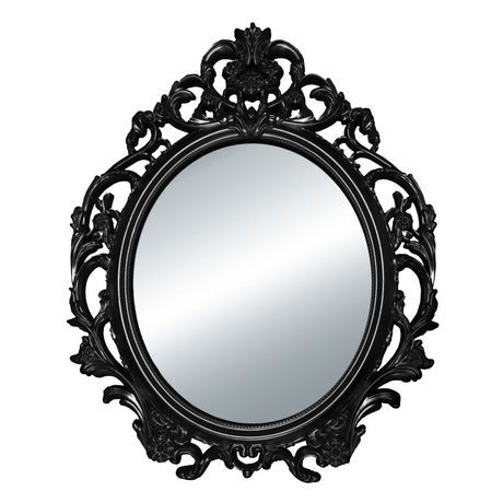 Hometrends baroque oval mirror walmart canada for Miroir noir baroque