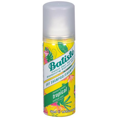 Large Dry Shampoo - Batiste Dry Shampoo is the quick and convenient way to get soft, clean and fresh smelling hair, without water. Batiste offers an instant fix by revitalizing greasy, dull and lifeless hair. Batiste thickens thin fly-away hair and adds texture and body for that easy style solution. Simply spray it on and comb it out.