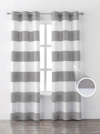 Mainstays Stripe Window Curtains