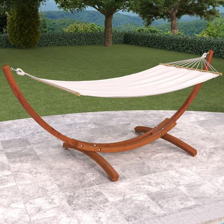Corliving Pwc 334 H Wood Canyon Stained Patio Hammock Walmart Canada