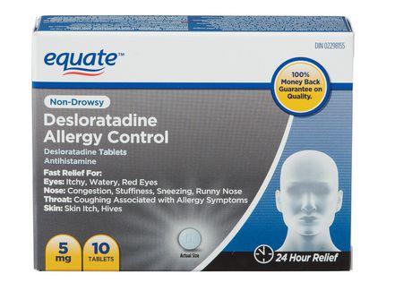 Comprimés de desloratadine d'Equate pour contrôler des allergies - image 1 de 1