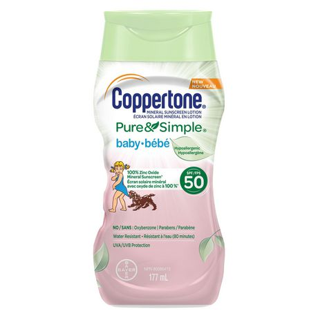 Coppertone® Mineral Sunscreen Lotion Pure & Simple Baby SPF 50 - image 1 of 1