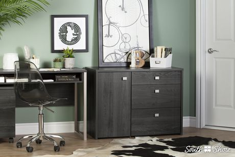 South Shore Interface Storage Unit with File Drawer - image 3 of 9