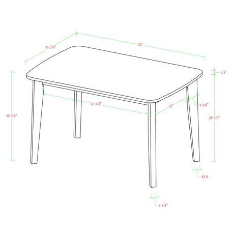 Manor Park Table à manger rétro moderne en bois - image 5 de 5
