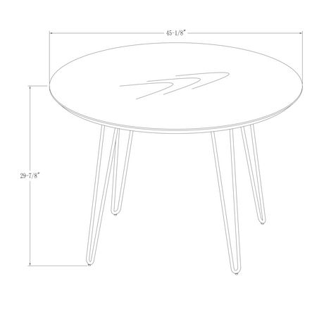 Manor Park 4 Person Mid Century Modern Round Dining Table - image 7 of 7
