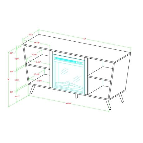 """Manor Park Mid-Century Modern Hairpin Fireplace TV Stand for TV's up to 56"""" - Multiple Finishes - image 7 of 7"""