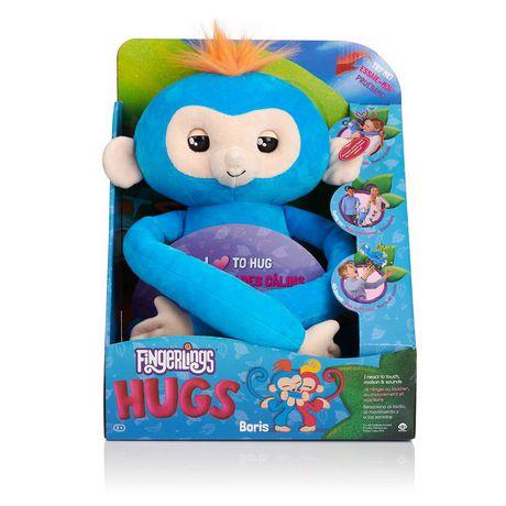 Fingerlings Hugs - Boris - Friendly Interactive Plush Monkey Toy - by WowWee - image 4 of 4