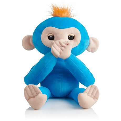 Fingerlings Hugs - Boris - Friendly Interactive Plush Monkey Toy - by WowWee - image 2 of 4