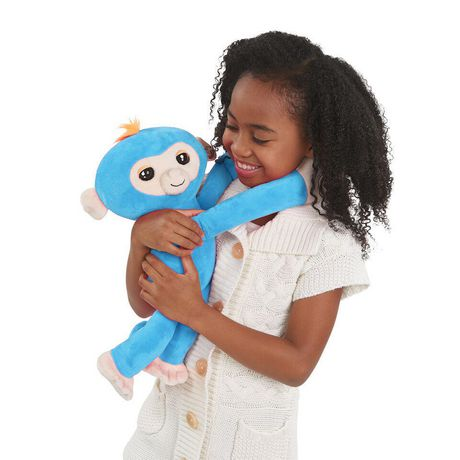 Fingerlings Hugs - Boris - Friendly Interactive Plush Monkey Toy - by WowWee - image 3 of 4