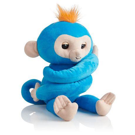 Fingerlings Hugs - Boris - Friendly Interactive Plush Monkey Toy - by WowWee - image 1 of 4