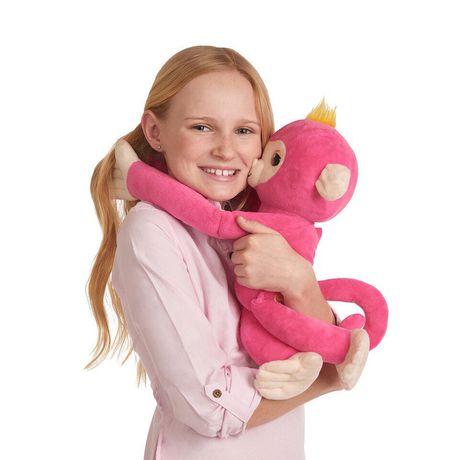 Fingerlings Hugs - Bella - Friendly Interactive Plush Monkey Toy - by WowWee - image 3 of 4