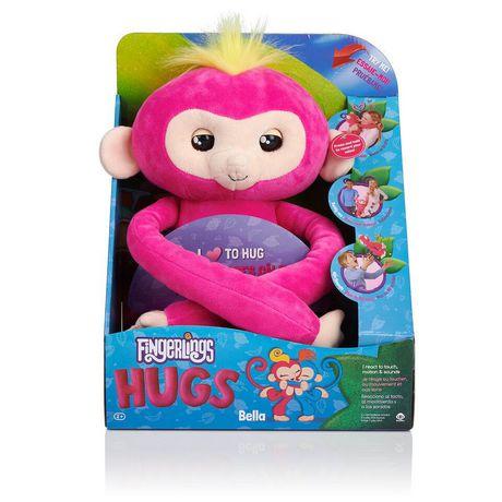 Fingerlings Hugs - Bella - Friendly Interactive Plush Monkey Toy - by WowWee - image 4 of 4