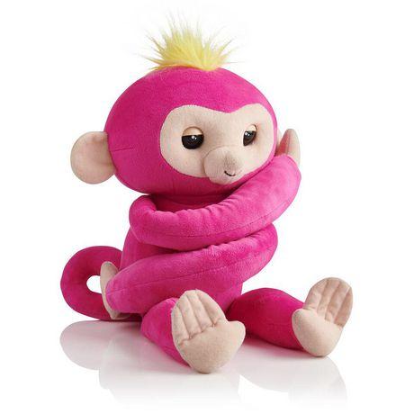 Fingerlings Hugs - Bella - Friendly Interactive Plush Monkey Toy - by WowWee - image 1 of 4