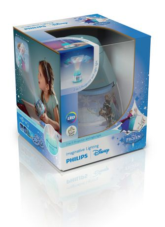 veilleuse et projecteur 2 en 1 la reine des neiges de disney par philips walmart canada. Black Bedroom Furniture Sets. Home Design Ideas