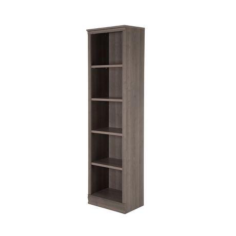 biblioth que troite 5 tablettes morgan de meubles south shore walmart canada. Black Bedroom Furniture Sets. Home Design Ideas