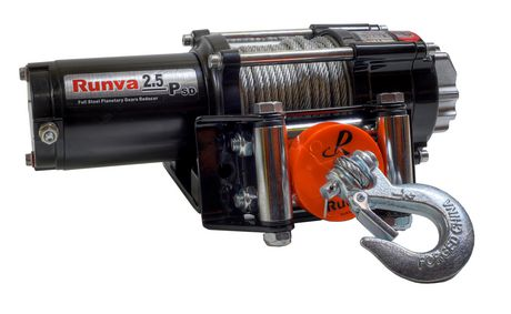 Runva 2,500 lbs Super Deluxe Winch Kit with Steel Cable