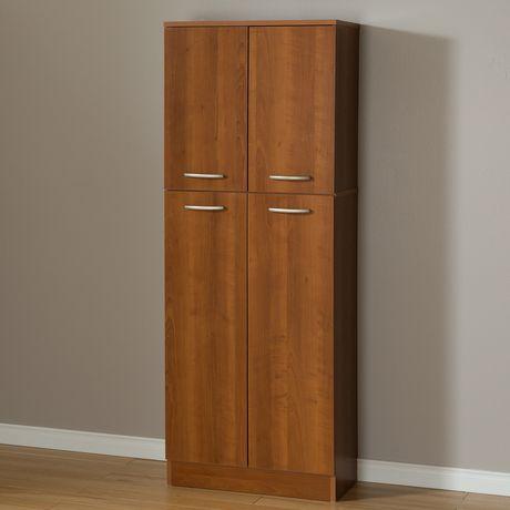 Garde manger 4 portes smart basics de meubles south shore - Meuble garde manger cuisine ...