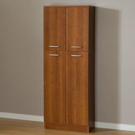 south shore smart basics 4 door storage pantry walmart canada. Black Bedroom Furniture Sets. Home Design Ideas