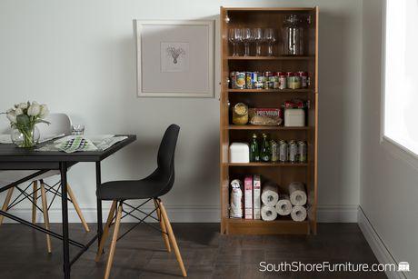 South Shore Smart Basics 4 Door Storage Pantry