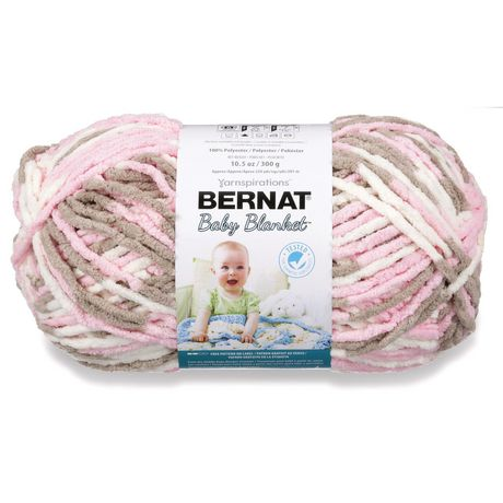 BERNAT BABY BLANKET YARN (300G/10.5 OZ), LITTLE PETUNIAS - image 1 of 4