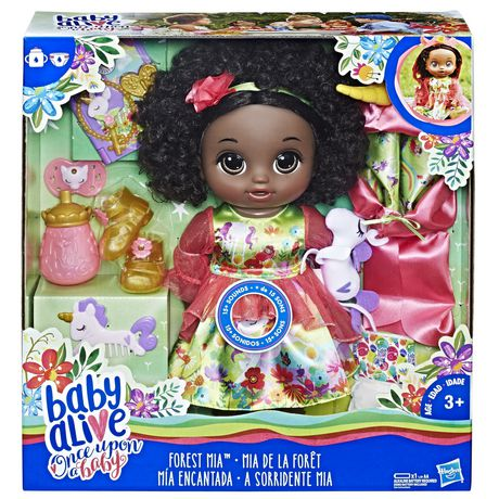 58632c56e2 Baby Alive Once upon A Baby  Forest Tales Forest Mia (black Curly Hair) ...