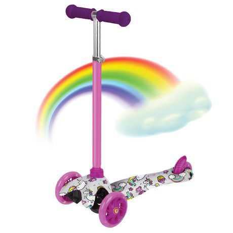 Rugged Racers Kids Scooter With Unicorn Print Design - image 2 of 8