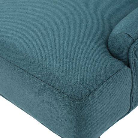 Andrews Dark Teal Fabric Dining Chairs Set Of 2