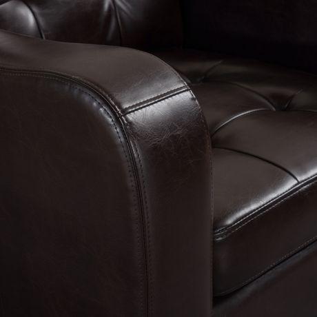 Sasha Leather Club Chair - image 3 of 3