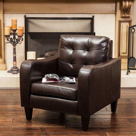 Sasha Leather Club Chair - image 1 of 3