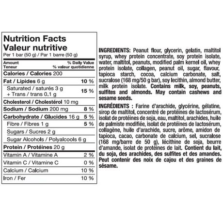 Pure Protein Gluten Free Chocolate Peanut Butter Bars 12- Pack - image 2 of 2