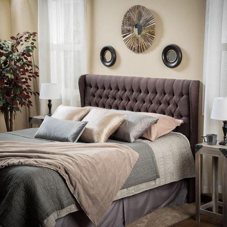 t te de grand lit capitonn e en tissu oreilles marla walmart canada. Black Bedroom Furniture Sets. Home Design Ideas