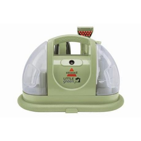 The Bissell Little Green Portable Deep Cleaner provides an environmentally-friendly way to keep hard-to-reach areas clean. It's perfect for cleaning up unexpected upholstery spills, carpeted stairwells, the floor of your car and more. The Bissell Little Green is especially useful for .
