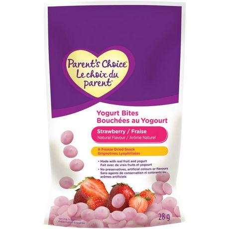 Le choix du parentMC Bouchées au yogourt - fraise, 28 g - image 1 de 2