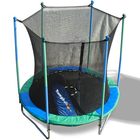 Trainor Sports 8' Trampoline And Enclosure with Trampballoon - image 2 of 9