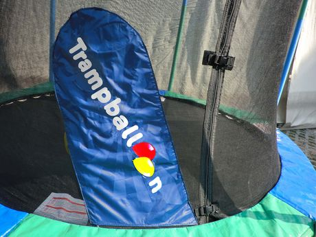 Trainor Sports 8' Trampoline And Enclosure with Trampballoon - image 3 of 9