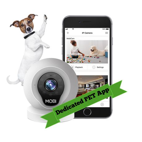 MOBI® PET Camera Monitoring System - Smart HD WiFi Pet Camera and Pet Monitoring System - Dedicated PET App - image 2 of 8