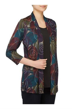 Alia Women's Fooler Cardigan with Inner Blouse - image 2 of 3