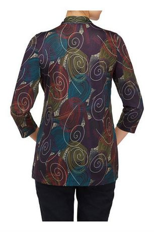 Alia Women's Fooler Cardigan with Inner Blouse - image 3 of 3