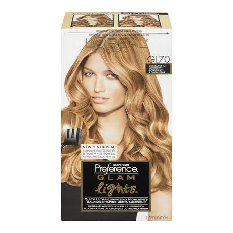 loral paris superior preference glam lights haircolour 7 - Coloration L Oreal Blond