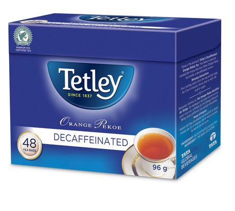 Tetley Tea Tetley Decaffeinated Orange Pekoe Tea Bags - image 1 of 2