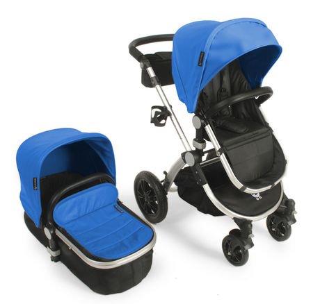 $279 Babyroues Letour Avant Luxe Bassinet & Stroller System Silver Frame